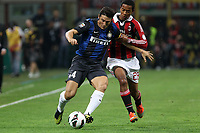 "Javier Zanetti Inter Urby Emanuelson Milan<br /> Milano 07/10/2012 Stadio ""San Siro""<br /> Football Calcio Serie A 2012/13<br /> Milan v Inter<br /> Foto Insidefoto Paolo Nucci"