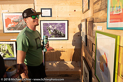 Surf City Blitz and RSD Moto Beach Classic art show. Huntington Beach, CA. Saturday October 27, 2018. Photography ©2018 Michael Lichter.