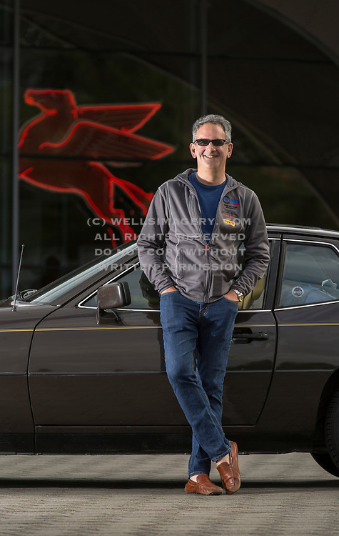 Image of Rob Sass and his Brown Porsche 924 at the LeMay Museum in Tacoma, Washington, Pacific Northwest by Randy Wells