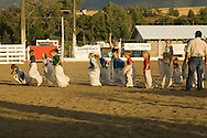 Kids compete in sack race at Livingston Montana