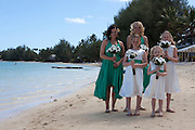 Cook islands, New Zealand,wedding on the beach