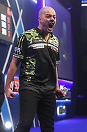 Jan Dekker wins his first round match against Ryan Joyce during the PDC William Hill World Darts Championship at Alexandra Palace, London, United Kingdom on 19 December 2019.