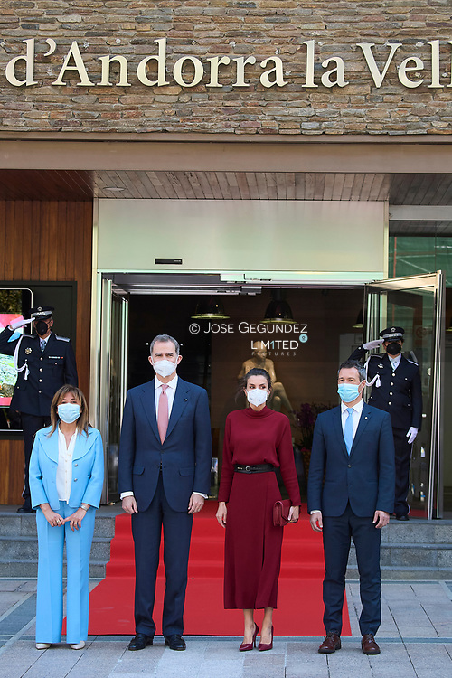 King Felipe VI of Spain, Queen Letizia of Spain visit Town hall during 2 day State visit to Principality of Andorra at Comu de Andorra on March 25, 2021 in Andorra la Vella, Principality of Andorra  <br /> The two day trip marks the first visit to Andorra since King Felipe's enthronement and is also the first foreign trip since the begin of the Coronavirus pandemic.