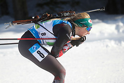 Hauser Lisa Theresa of Austria competes during the IBU World Championships Biathlon Single Mixed Relay competition on February 18, 2021 in Pokljuka, Slovenia. Photo by Vid Ponikvar / Sportida