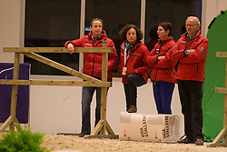 Isabell Werth, Dr. Cordula Gather, Monica Theodorescu, Jurgen Koschel <br /> Reem Acra FEI World Cup Goteborg 2013<br /> © Dirk Caremans