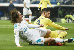January 13, 2018 - Madrid, Spain - Luka Modric (midfielder; Real Madrid) in action during La Liga match between Real Madrid and Villareal CF at Santiago Bernabeu on January 13, 2018 in Madrid (Credit Image: © Jack Abuin via ZUMA Wire)