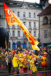 Group of fans wating for Tim Gajser before sprejem Tima Gajsreja, on Avgust 27, 2019 in Maribor, Slovenia. Photo by Blaž Weindorfer / Sportida