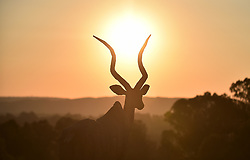 South Africa - Pretoria - 23 October 2020 - An artificial antelope set on the boulder during a Gauteng sunset. <br /> <br /> Picture: Thobile Mathonsi/African News Agency(ANA)