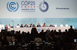 2 December 2019, Madrid, Spain: COP president Michał Kurtyka shares opening remarks, as the 25th UN climate conference (COP25) opening plenaries take place in Madrid.