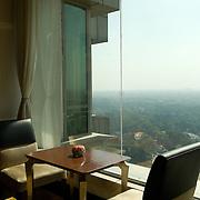 The Horizon club at the 19th floor of the Shangri-La Hotel in New Delhi
