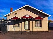19 NOVEMBER 2011 - PHOENIX, AZ:  An abandoned business on Indian School Rd in Phoenix, AZ.  PHOTO BY JACK KURTZ