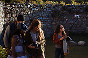 Tourists in Real de Catorce.