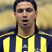 Fenerbahce's Mehmet TOPUZ during their Turkish superleague soccer derby match Galatasaray between Fenerbahce at the Turk Telekom Arena in Istanbul Turkey on Friday, 18 March 2011. Photo by TURKPIX