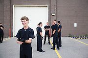 The Oregon Marching Band permorms their first show in Oregon, Wisconsin on June 20, 2009.