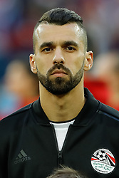 June 19, 2018 - Saint Petersburg, Russia - Abdalla Said of Egypt national team during the 2018 FIFA World Cup Russia group A match between Russia and Egypt on June 19, 2018 at Saint Petersburg Stadium in Saint Petersburg, Russia. (Credit Image: © Mike Kireev/NurPhoto via ZUMA Press)