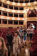 """During the """"night at the theater"""", an initiative promoted by the Massimo  theater to get acquainted with the youngest"""