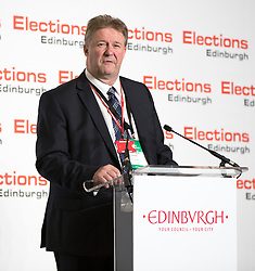 Scottish Parliament Election 2016 Royal Highland Centre Ingliston Edinburgh 05 May 2016; Andrew Kerr, the Returning Officer, begins the postal count during the Scottish Parliament Election 2016, Royal Highland Centre, Ingliston Edinburgh.<br /> <br /> (c) Chris McCluskie | Edinburgh Elite media