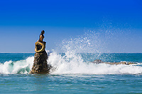 mermaid statue of Ngapali Beach near Thandwe at Rakhine state in Myanmar (Burma)