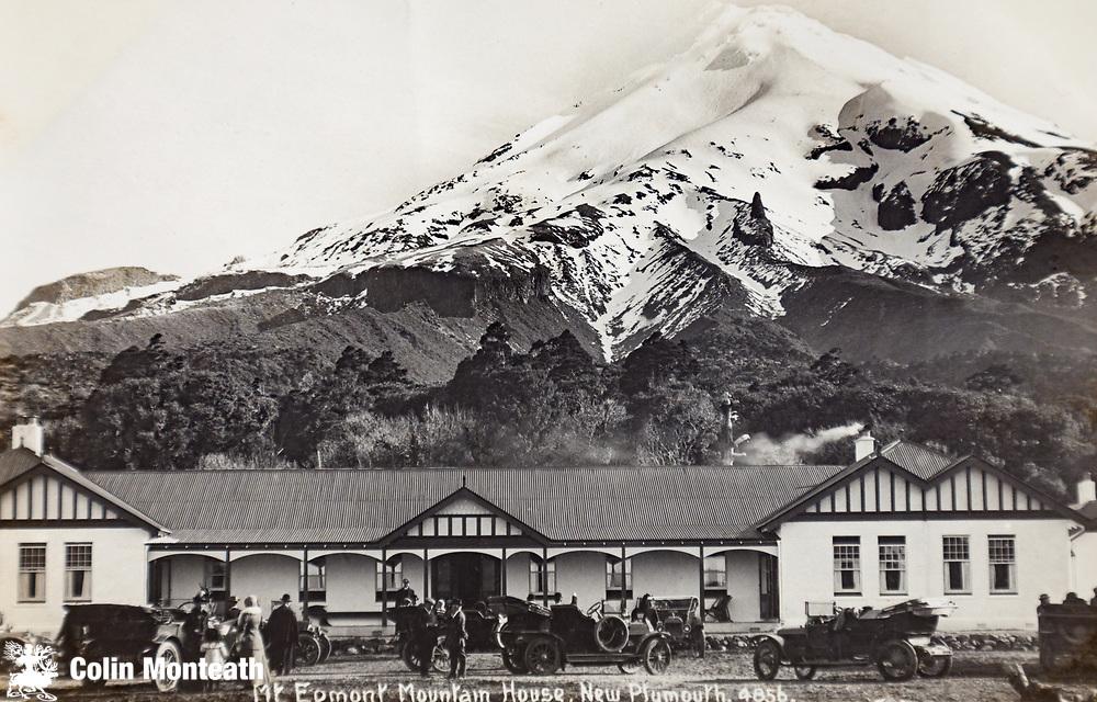 Mt Egmont Mountain House, 1930s postcard, Egmont National Park, New Zealand.