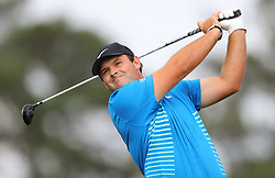 April 7, 2018 - Augusta, GA, USA - Patrick Reed hits from the 1st tee during the third round of the Masters Tournament on Saturday, April 7, 2018, at Augusta National Golf Club in Augusta, Ga. (Credit Image: © Curtis Compton/TNS via ZUMA Wire)
