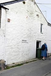 Quaker meeting house sign, Marazion, Cornwall, UK