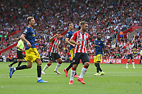 Football - 2021/ 2022 Premier League - Southampton vs. Manchester United - St Mary's Stadium - Sunday 22nd August<br /> <br /> Southampton's Che Adams starts to celebrate his opening strike at St Mary's Stadium Southampton<br /> <br /> COLORSPORT/Shaun Boggust