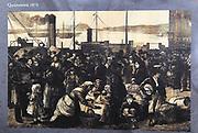 Queenstown 1874 emigration picture, Cobh,  County Cork, Ireland at railways station