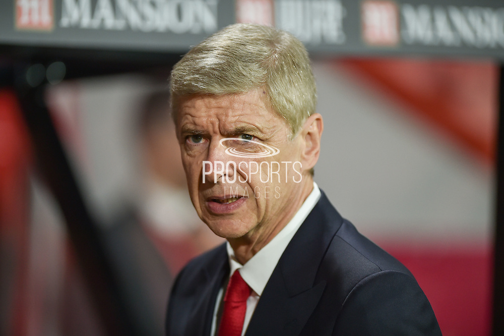 Arsenal manager, Arsene Wenger  during the Premier League match between Bournemouth and Arsenal at the Vitality Stadium, Bournemouth, England on 3 January 2017. Photo by Adam Rivers.