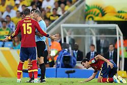 Lance da partida entre Brasil e Espanha válida pela final da Copa das Confederações 2013, no estádio Maracanã, no Rio de Janeiro. FOTO: Jefferson Bernardes/Preview.com
