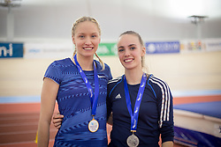 Agata Zupin and Maja Pogorevc during day 2 of Slovenian Athletics Indoor Championships 2020, on February 23, 2020 in Novo mesto, Slovenia. Photo by Peter Kastelic / Sportida