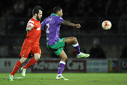 Bristol City's Mark Little controls the ball under pressure from Leyton Orient's Chris Dagnall - Photo mandatory by-line: Dougie Allward/JMP - Mobile: 07966 386802 - 03/03/2015 - SPORT - football - Leyton - Brisbane Road - Leyton Orient v Bristol City - Sky Bet League One