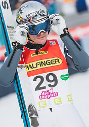 16.02.2020, Kulm, Bad Mitterndorf, AUT, FIS Ski Flug Weltcup, Kulm, Herren, 2. Wertungsdurchgang, im Bild Domen Prevc (SLO) // Domen Prevc of Slovenia reacts after his 2nd Competition Jump for the men's FIS Ski Flying World Cup at the Kulm in Bad Mitterndorf, Austria on 2020/02/16. EXPA Pictures © 2020, PhotoCredit: EXPA/ JFK