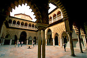 SPAIN, ANDALUSIA, SEVILLE Alcazar; Patio de las Doncellas