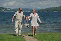 Beth M and family on Lake Winnipesaukee.  Karen Bobotas Photographer