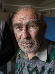 Pavlo Virienko, 86, is alone in caring for his frail elderly wife, Lydia, 86, and is scared to venture far from their home due to the recent fighting in the town. He recently fell and cut his face whilst trying to bring home food from a himanitarina food distribution. One of their daughters is able to visit once a week but his other daughter lives on the other side of the frontline in Ukraine and is blocked from visiting her parents due to the securit restrictions..