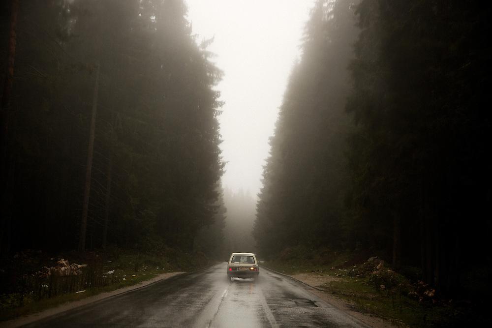 On the Sarajevo to Zvornik highway, on route to Belgrade. October 2013.