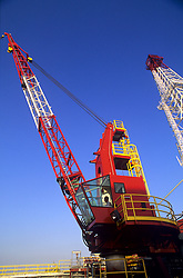 Stock photo of an upward view of a crane