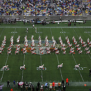 The FAMU Marching 100 band performs during halftime of the Florida Classic NCAA football game between the FAMU Rattlers and the Bethune Cookman Wildcats at the Florida Citrus bowl on Saturday, November 22, 2014 in Orlando, Florida. (AP Photo/Alex Menendez)