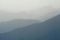 Greece, Pindos Mountains, Pindos NP, Valia Calda, Landscape with layered hills