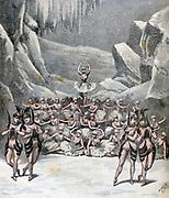 The Journey on the Moon' a snow ballet at the Theatre de la Porte-Saint-Martin, Paris. From 'Le Petit Journal', Paris, 9 April 1892.  France, Enterainment, Dance