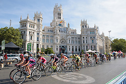 Counting down the laps at Madrid Challenge by La Vuelta an 87km road race in Madrid, Spain on 11th September 2016.