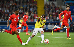 England's Raheem Sterling, Colombia's Juan Fernando Quintero and England's Dele Alli during the 1/8 final game between Colombia and England at the 2018 FIFA World Cup in Moscow, Russia on July 3, 2018. Photo by Lionel Hahn/ABACAPRESS.COM