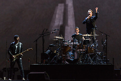 June 4, 2017 - Chicago, Illinois, U.S - THE EDGE, LARRY MULLEN JR. and BONO of U2 during 30th Anniversary of the The Joshua Tree Tour at Soldier Field in Chicago, Illinois (Credit Image: © Daniel DeSlover via ZUMA Wire)