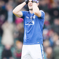 1 December 2013; Conor Ryan, Cratloe, reacts at the final whistle following his side's defeat. AIB Munster Senior Club Football Championship Final, Dr. Crokes, Kerry, v Cratloe, Clare. Gaelic Grounds, Limerick. Picture credit: Stephen McCarthy / SPORTSFILE