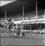 "06/08/1960<br /> 08/06/1960<br /> 06 August 1960<br /> R.D.S Horse Show Dublin (Saturday). Captain the Hon, John Brooke on ""Tyrenny""."