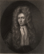 Robert Boyle (1627-1691) Anglo-Irish chemist and physicist. Engraving.