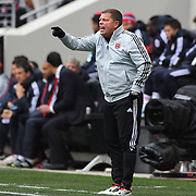 D.C. United Assistant Coach Chad Ashton in action during the New York Red Bulls V D.C. United, Major League Soccer regular season match at Red Bull Arena, Harrison, New Jersey. USA. 16th March 2013. Photo Tim Clayton