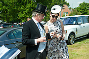 CHRISTOPHER KELLY; MRS. JULIA KENT, Royal Ascot. Tuesday. 14 June 2011. <br /> <br />  , -DO NOT ARCHIVE-© Copyright Photograph by Dafydd Jones. 248 Clapham Rd. London SW9 0PZ. Tel 0207 820 0771. www.dafjones.com.