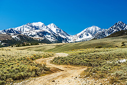 Dirt roads provide magic used correctly.  This one leads to Little Switzerland in the Lost River Range of Central Idaho.