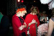 OTTAVIA CASAGRANDE. ; ALESSANDRA CRAVETTO;  Francesca Bortolotto Possati, Alessandro and Olimpia host Carnevale 2009. Venetian Red Passion. Palazzo Mocenigo. Venice. February 14 2009.  *** Local Caption *** -DO NOT ARCHIVE -Copyright Photograph by Dafydd Jones. 248 Clapham Rd. London SW9 0PZ. Tel 0207 820 0771. www.dafjones.com<br /> OTTAVIA CASAGRANDE. ; ALESSANDRA CRAVETTO;  Francesca Bortolotto Possati, Alessandro and Olimpia host Carnevale 2009. Venetian Red Passion. Palazzo Mocenigo. Venice. February 14 2009.